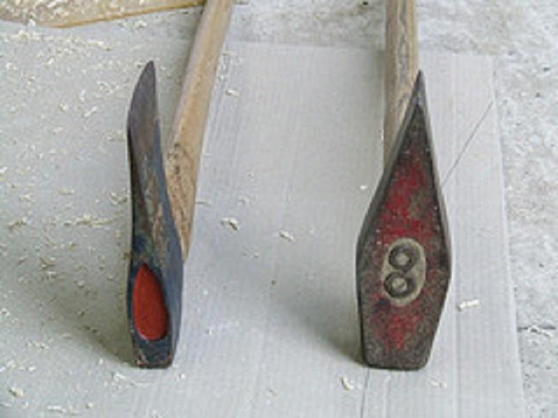 a splitting axe and a felling axe