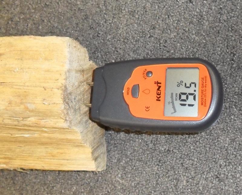 moisture meter reading 19.5%